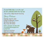 Forest Animal Woodland Baby Shower Invitations