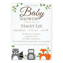 Forest Animals Baby Shower Invitation