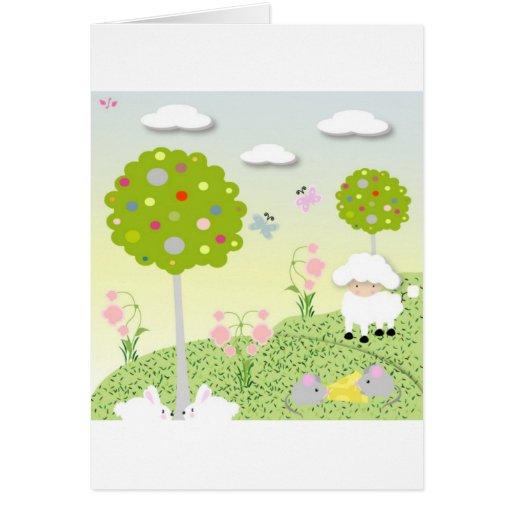 Forest animals card