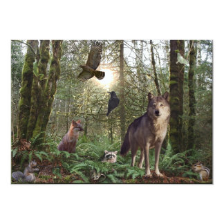 Forest Animals Invitation Cards