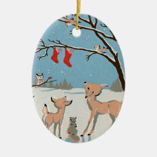 Forest Animals Personalized Christmas Ornament