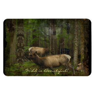 Forest Animals Wildlife-Supporter Wild Art Magnet