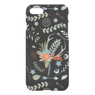 Forest Arrows and Deer Antler Floral Pattern iPhone 7 Case