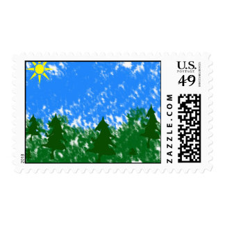 forest art postage