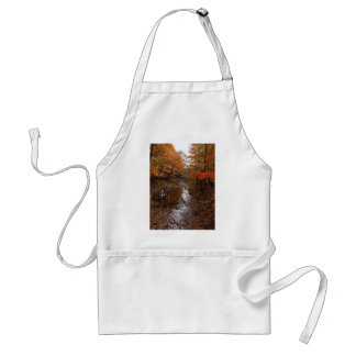 FOREST AT AUTOMN WITH WATER ADULT APRON