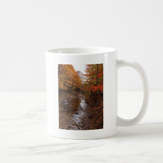 FOREST AT AUTOMN WITH WATER CLASSIC WHITE COFFEE MUG