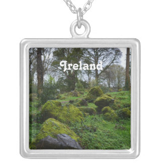 Forest at Blarney Castle Silver Plated Necklace