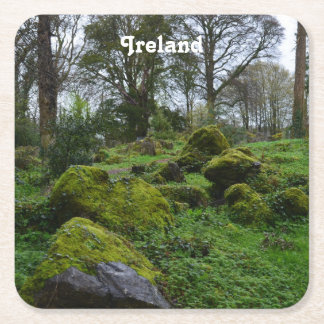Forest at Blarney Castle Square Paper Coaster