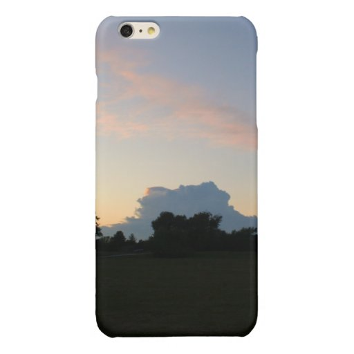 Forest at dusk glossy iPhone 6 plus case