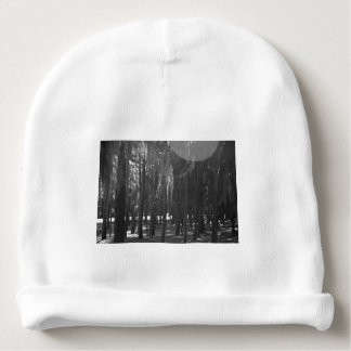 Forest at Sholom Park in Black and White Baby Beanie