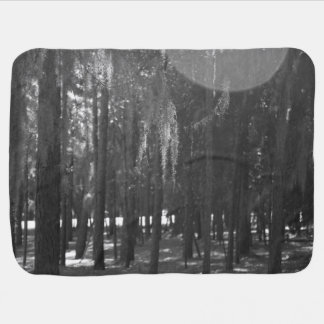 Forest at Sholom Park in Black and White Baby Blanket