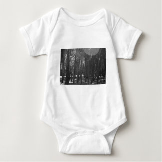 Forest at Sholom Park in Black and White Baby Bodysuit