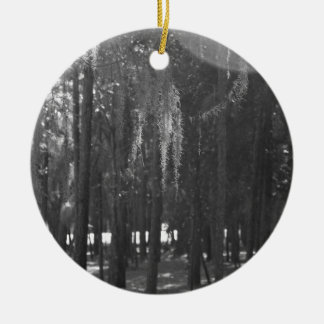 Forest at Sholom Park in Black and White Ceramic Ornament