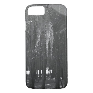 Forest at Sholom Park in Black and White iPhone 7 Case