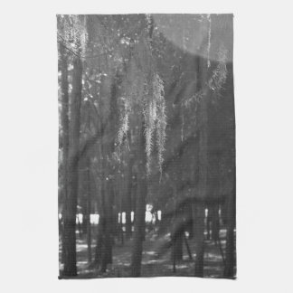 Forest at Sholom Park in Black and White Towel