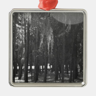 Forest at Sholom Park in Black and White Metal Ornament