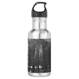 Forest at Sholom Park in Black and White Water Bottle
