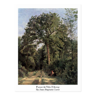 Forest At Ville D'Avray By Jean-Baptiste Corot Postcard
