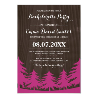 Forest Bachelorette Party Invites