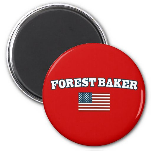 Forest Baker for America 2 Inch Round Magnet