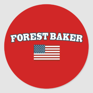 Forest Baker for America Classic Round Sticker