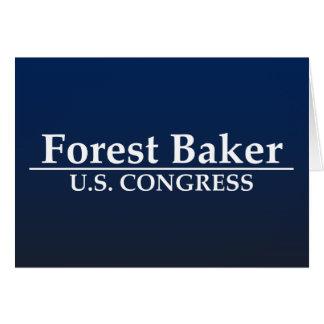 Forest Baker for U.S. Congress Card
