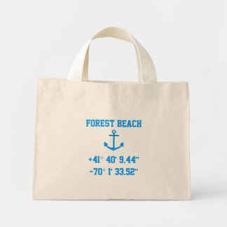 Forest Beach Mass. Latitude and Longitude Bag