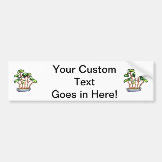 forest bonsai planting graphic.png car bumper sticker