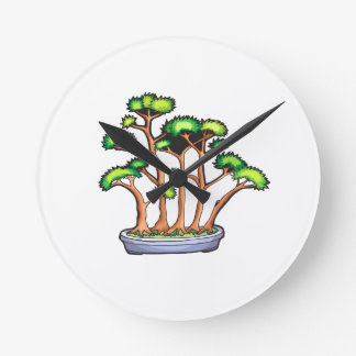 forest bonsai planting graphic.png round wallclock