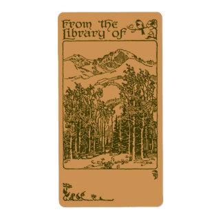 Forest  bookplate label