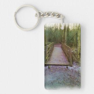 Forest Bridge Keychain