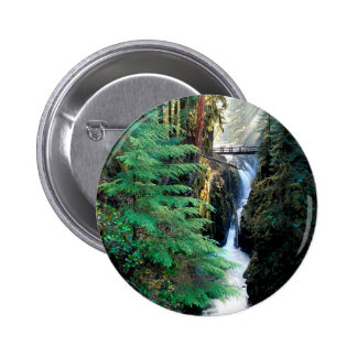 Forest Bridge Over Sol Duc Falls Olympic Buttons