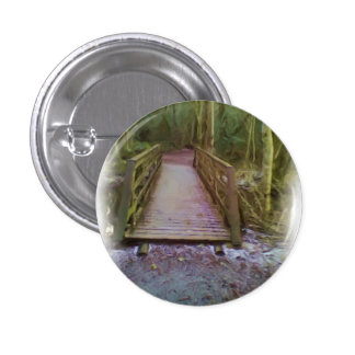 Forest Bridge Pinback Button