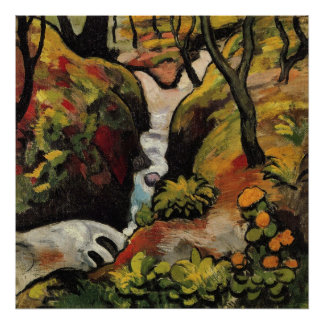 Forest Brook by August Macke Poster