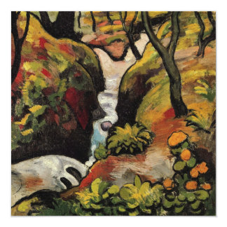 Forest Brook by August Macke Vintage Expressionism Card