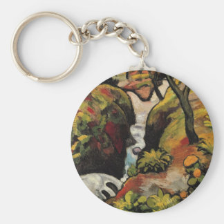 Forest Brook by August Macke Vintage Expressionism Basic Round Button Keychain
