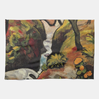 Forest Brook by August Macke Vintage Expressionism Kitchen Towels