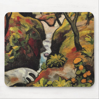 Forest Brook by August Macke Vintage Expressionism Mouse Pad