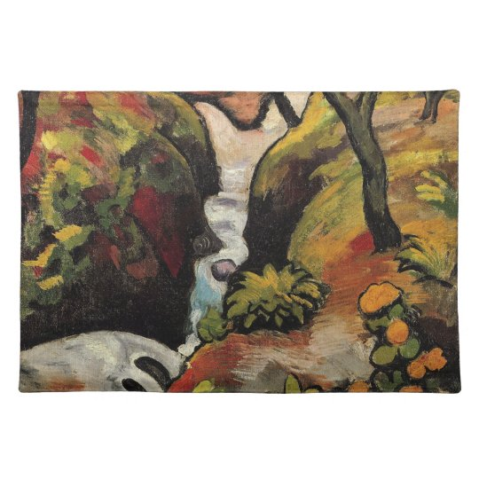 Forest Brook by August Macke Vintage Expressionism Placemat