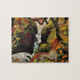 Forest Brook by August Macke Vintage Expressionism Puzzle