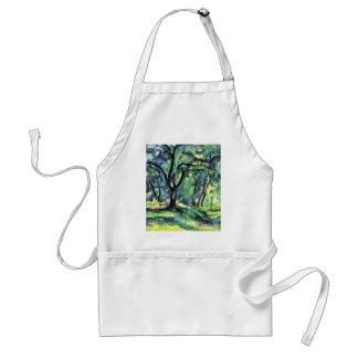 Forest By Paul Cézanne (Best Quality) Adult Apron