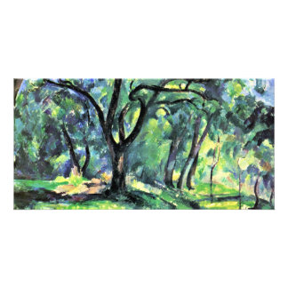 Forest By Paul Cézanne (Best Quality) Personalized Photo Card