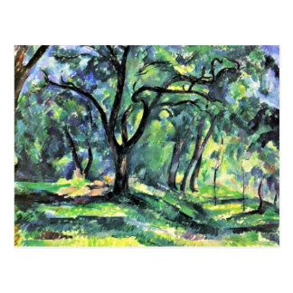 Forest By Paul Cézanne (Best Quality) Postcard