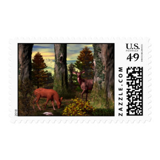 Forest Calm Postage Stamp