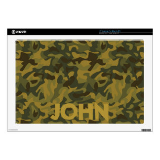 """Forest Camo 17"""" Laptop Decal"""