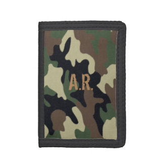Forest Camo Padfolio Tri-fold Wallet