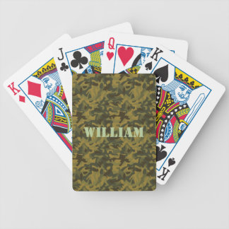 Forest Camo Bicycle Card Deck