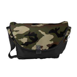 forest camo print camouflage army pattern military messenger bag