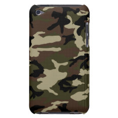 Forest Camo Print Camouflage Pattern Army Military Ipod Case-mate Case at Zazzle