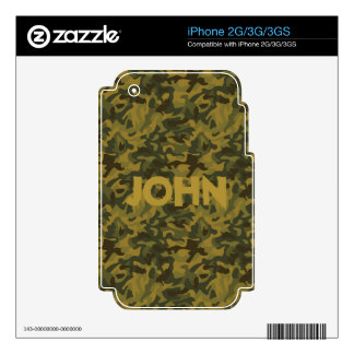 Forest Camo Decals For The iPhone 3GS